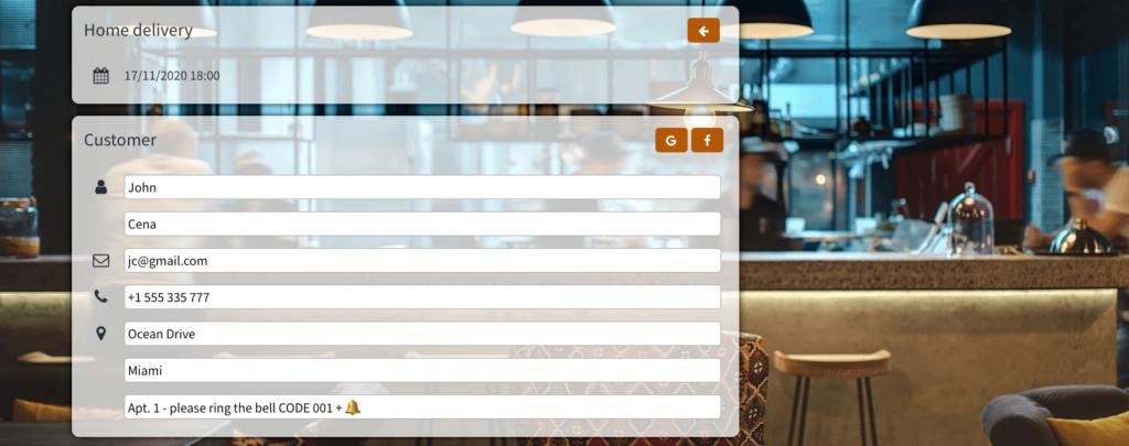 Delivery software for restaurants Octotable